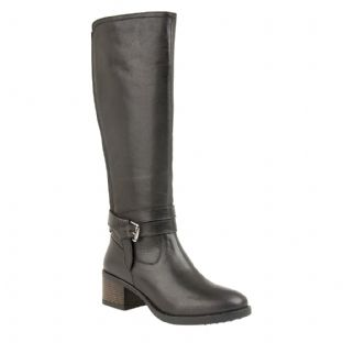 Lotus Womens Janessa Black Leather Knee High Boots